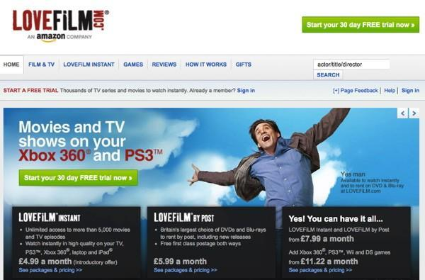 Lovefilm now streams more content than it mails