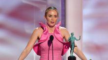 Emily Blunt reivindicada en los Premios SAG y continúa casada