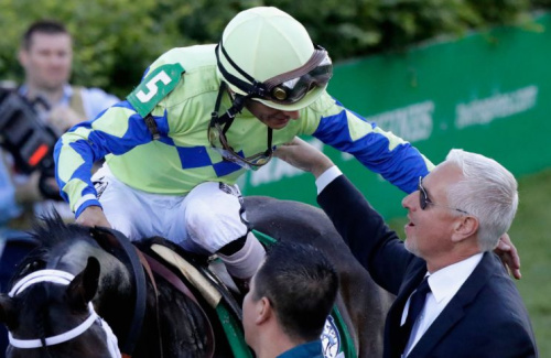 Todd Pletcher, right, has a Triple Crown threat in Always Dreaming. (Getty Images)