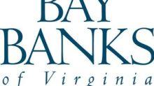 Bay Banks Of Virginia, Inc. Announces Third Quarter 2017 Dividend
