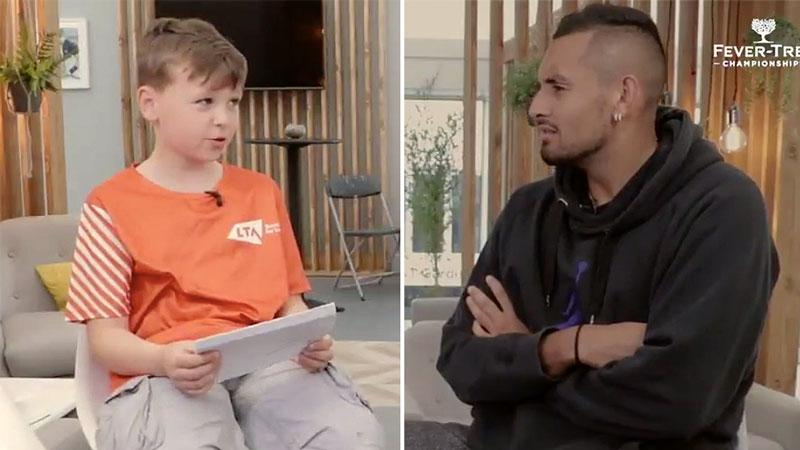 'You don't try': Junior reporter grills Nick Kyrgios on tennis controversies