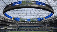 Check out SoFi Stadium field with painted end zones for Rams-Cowboys