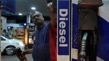 Petrol, diesel prices increase as rupee continues to fall; crude oil declines on record US production