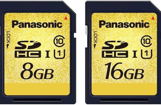 Panasonic announces speedy new 8GB, 16GB UHS-I SDHC cards
