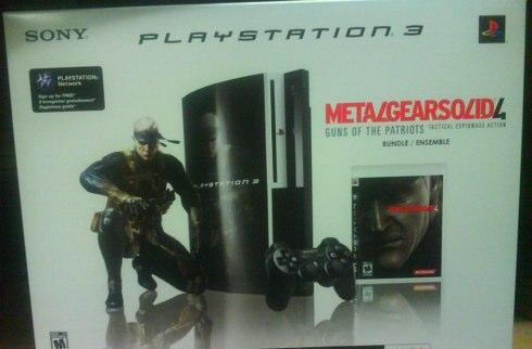 Rumor: MGS4 80GB PS3 on the outs, get 'em while they last