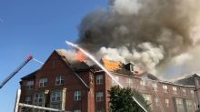 Smoke Pours From Roof Fire Near Navy Yard
