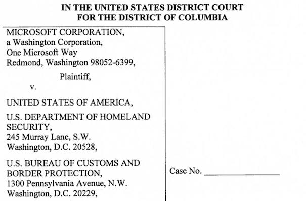 Microsoft sues US Customs and Border Protection for not enforcing ITC exclusion order against Motorola