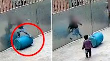 Horrifying moment boy, 3, accidentally hangs himself - before a miraculous rescue
