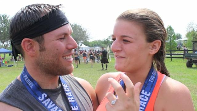 Couple Gets Engaged at Mud Run