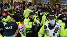 Protesters Clash With Police At Bristol Anti-Lockdown Demonstration