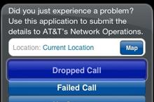 AT&T offers app so you can report crappy service. Huh?