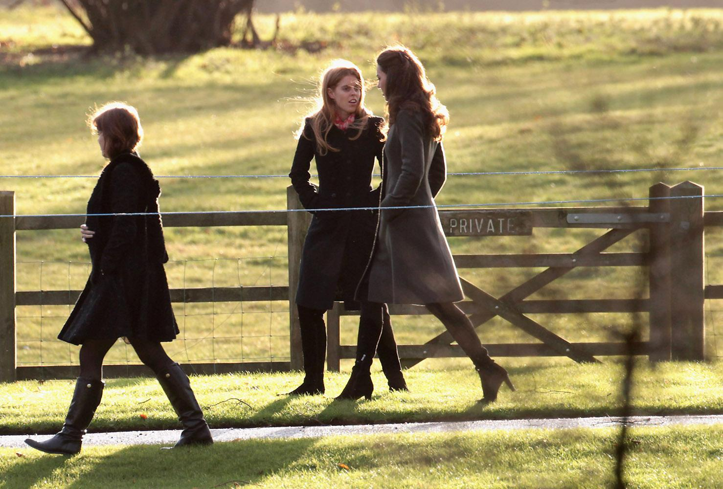 The royal family attended a Christmas Day service, all in chic jackets and boots as they arrived together.