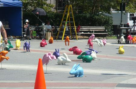 Sony releasing a herd of Play-Doh bunnies on NYC