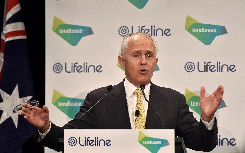 Australian Prime Minister Malcolm Turnbull Sunday thanked Niger and Burkina Faso for their efforts in securing Jocelyn Elliott's release (AFP Photo/Saeed Khan)