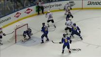 Brent Seabrook buries one-timer on power play