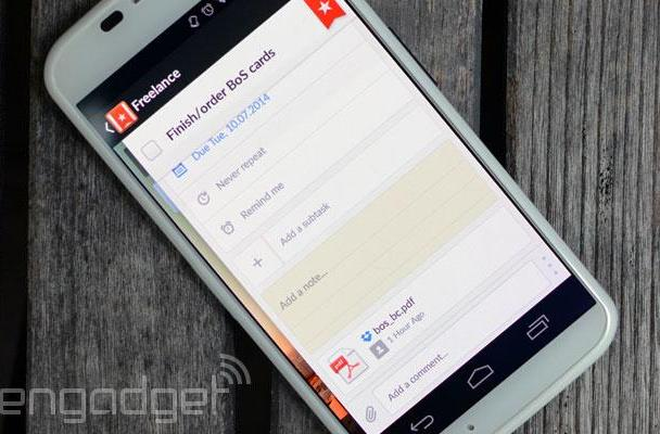 Wunderlist now lets you attach Dropbox files to tasks