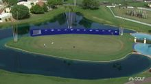 LPGA players 'surprised' to see logoed wall behind 18 green at ANA