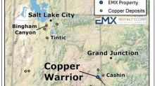 EMX Royalty Options the Copper Warrior Project in Utah to Warrior Metals Inc.