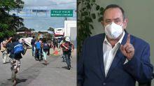 Presidente guatemalteco ordena capturar a migrantes hondureños