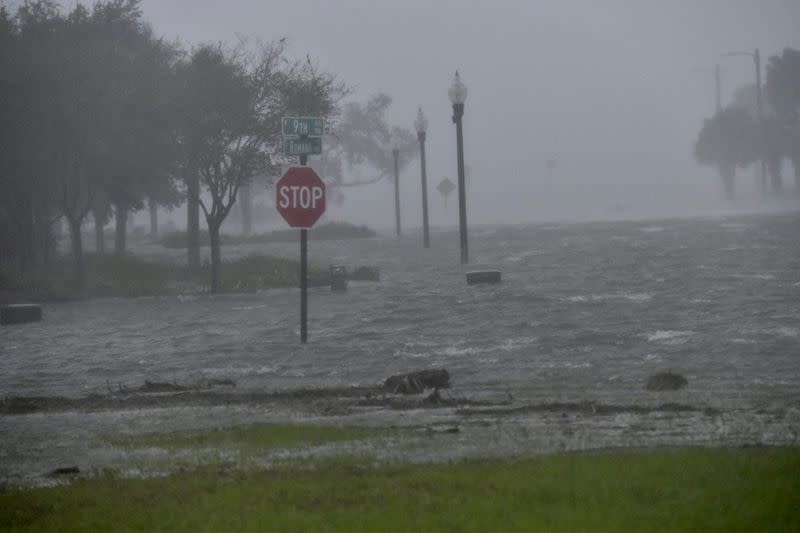Flooding due to Hurricane Sally is seen in Pensacola