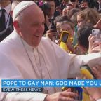 LGBT community embraces pope's 'God made you like this' remark