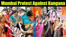 Protest Against Kangana by women Wing Of Shivsena