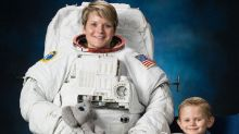 Astronaut Anne McClain had her official NASA photos taken with her 4-year-old son, and they're too cute