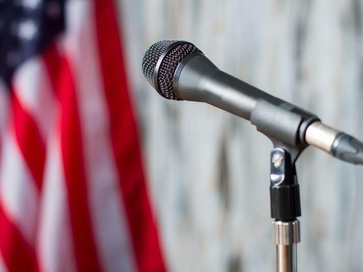Wilmington Apple editor and Tewksbury resident Robert Hayes moderated the state representative debate.