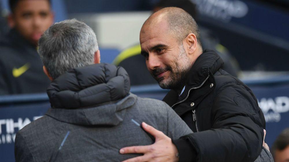 FOTO: ¿Qué cara puso Mourinho al saludar a Guardiola?