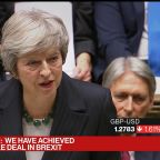 May Urges Lawmakers to Back Deal or Risk `No Brexit at All'