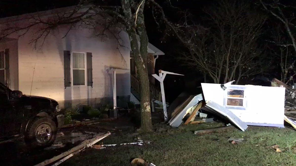 tornado touches down in gladeville damaging homes along path video