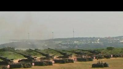 Taiwan conducts live-fire military drill