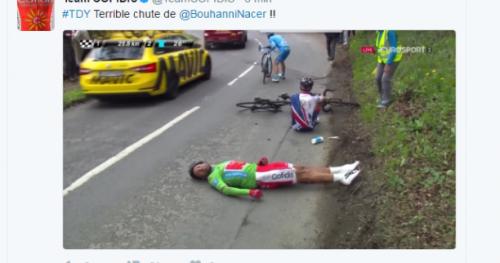 Cyclisme - T. Yorkshire - Nacer Bouhanni chute lourdement et abandonne au Tour de Yorkshire