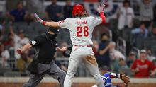 Controversial call at home plate gives Phillies 7-6 win over Braves