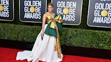 'A ripped open Christmas gift from grandma': Jennifer Lopez's Golden Globes dress is dividing fans
