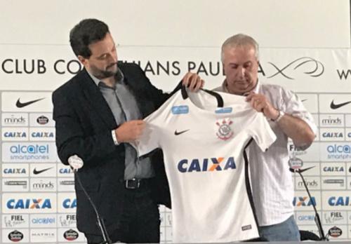 Timão apresenta patrocinador, que pagará R$ 3 milhões até o fim do ano