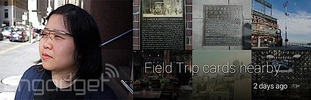 Google Glass users can now say 'Explore Nearby' to launch Field Trip, discover the world around them