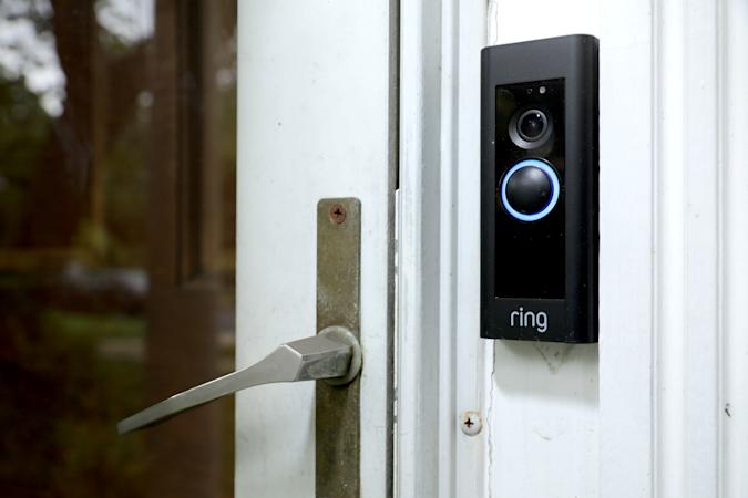 SILVER SPRING, MARYLAND - AUGUST 28: A doorbell device with a built-in camera made by home security company Ring is seen on August 28, 2019 in Silver Spring, Maryland. These devices allow users to see video footage of who is at their front door when the bell is pressed or when motion activates the camera. According to reports, Ring has made video-sharing partnerships with more than 400 police forces across the United States, granting them access to camera footage with the homeowners' permission in what the company calls the nation's 'new neighborhood watch.' (Photo by Chip Somodevilla/Getty Images)