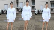 WATCH: Shraddha Kapoor wears mini shirt dress with twist