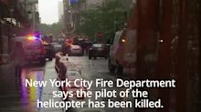 Pilot killed in helicopter crash on Manhattan skyscraper