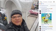 La promesa cumplida del muñeco de nieve sobre la tumba de su madre