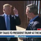 President Trump talks to Ed Henry, touts construction of new border wall sections