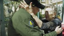 Touching moment WWII veteran is reunited with his long-lost love