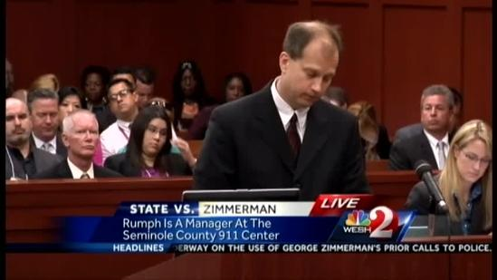 Zimmerman supporter seen inside courtroom before testimony