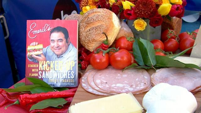 Emeril Lagasse's Version of the Cuban, French Bread Pizza