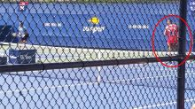 Awkward detail in photo of Nick Kyrgios at the US Open
