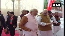 Modi, Shah Address BJP Leaders At New Headquarters' Inauguration