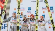 Saut à skis - Mondiaux - L'Allemagne remporte l'épreuve de saut à skis par équipes mixtes
