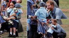 This Video of a Kid Scratching Prince Harry's Beard Is Too Cute to Be Missed