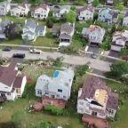 Drone captures aftermath of Chicago-area tornado